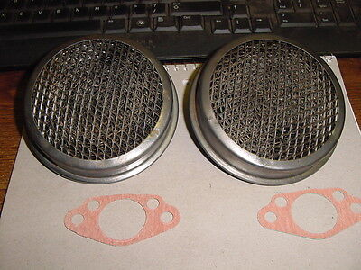 """Pair of Original Air Cleaners Bugeye Austin Healey Sprite for 1 1/8"""" H1 SU Carbs"""