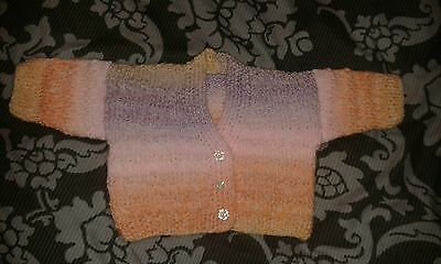 Hand knitted baby cardigan 0-3 months