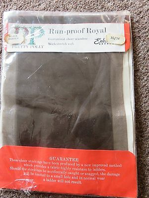 Pretty Polly Size 10 Vintage Seamfree Sheer Run proof Royal Stockings