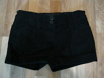 Girls Black Shorts by F & F.  Age 6-7 Years