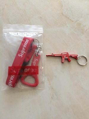 Supreme Red Bottle Opener Lanyard and M16 Keychain