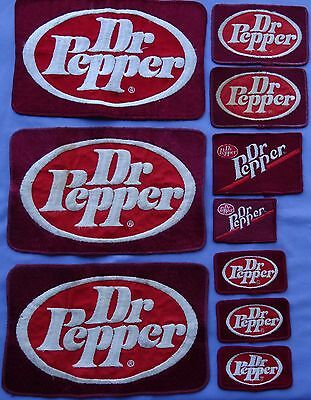 Dr Pepper Patches lot of 10 Used From Work Unifirms