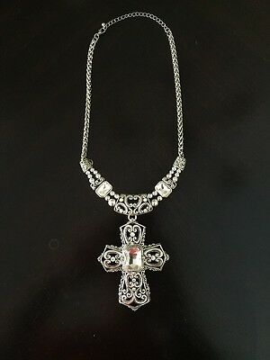 """New Fashion Statement """"Cross """" Necklace & Earring Set A Necklace Set 20"""""""