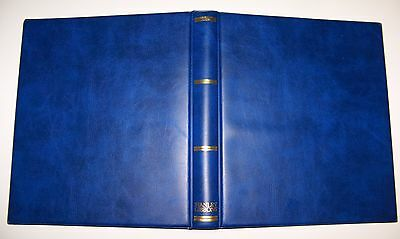 "(A5) Stanley Gibbons Universal Luxury Blue 22 Ring Album ""empty"""