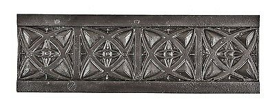 20th Century Cast Iron Window Casing Decorative Fragment from the Hoops Building