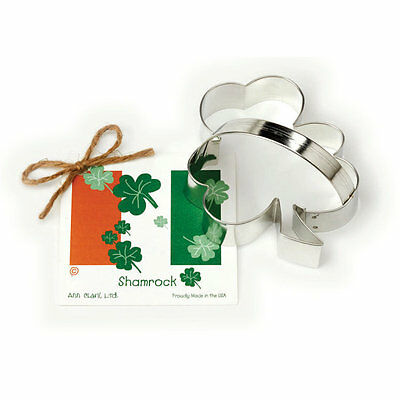 Ann Clark SHAMROCK  Tin Plated Steel Cookie Cutter  USA (NEW)
