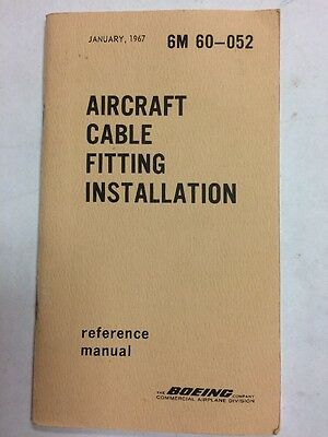 Boeing Aircraft Cable Fitting Installation Reference Manual