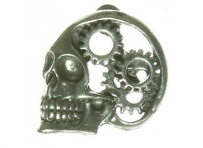 "(#L45) GEAR HEAD Pewter Vest / Hat Pin 1"" x 1"" Biker Vest"