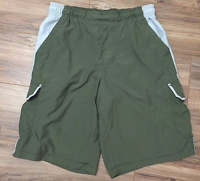 Nike Men's Swim Trunks Board Shorts Size Large L Green Off White Athletic