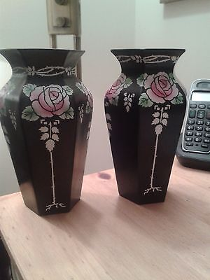Pair Of Shelley Art Deco Vases