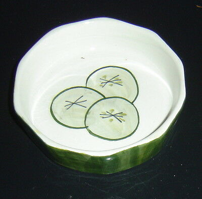 TONI RAYMOND POTTERY CUCUMBER DISH dated 1961 very collectable Perfect Condition