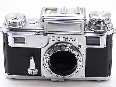 ZEISS CONTAX III   RANGEFINDER CAMERA body VERY clean but not working      G8198