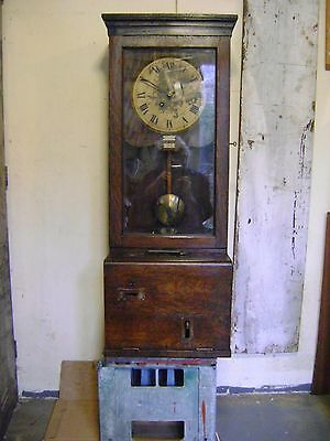 Antique Glenhill Brook Time Recorder Clock.