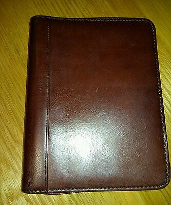 Tula Filofax Organiser A5 Conker Brown Leather Zipped Folder