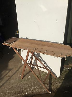 Vintage Antique Wooden Ironing Board 13/1/A
