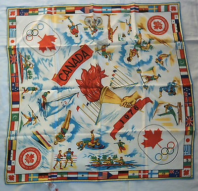 Orig.silk scarf   Olympic Games MONTREAL 1976  //  66 x 66 cm  !!  EXTREM RARE
