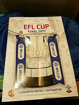 Pre-Order 2017 EFL CUP FINAL Official Programme~SOUTHAMPTON v MANCHESTER UNITED.