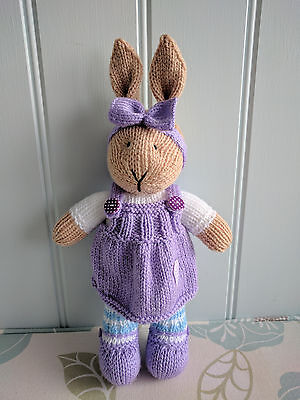 Hand Knitted Bunny.lovely Easter Gift