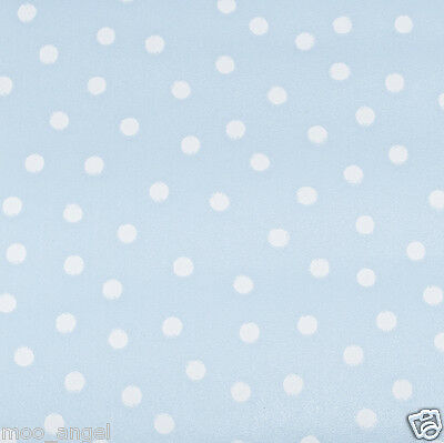 5 x A4 sheets of pale duck egg blue craft paper pattern with white polka dots
