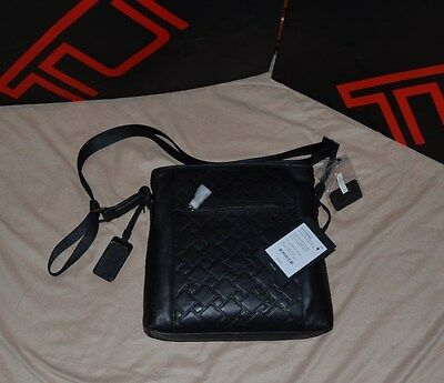 SALE! REDUCED! NEW  WITH TAGS TUMI SLIM CROSSBODY - 100% LEATHER In Black