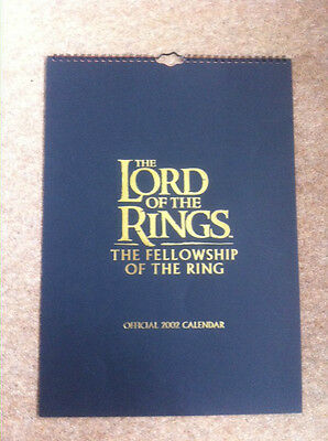 Lord of the Rings Fellowship of the Rings 2002 Calendar