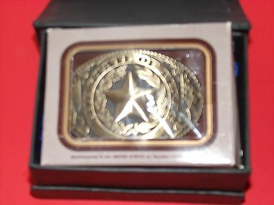 Vintage Belt Buckle The State of Texas TL&B
