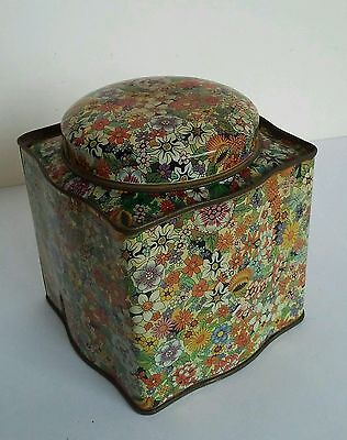 Vintage Daher Tea Caddy Tin