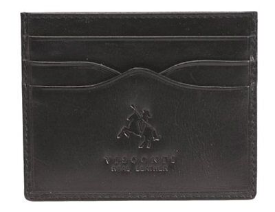Visconti Monza1 Pocket Card Holder in Soft Quality Leather (Black)...NEW