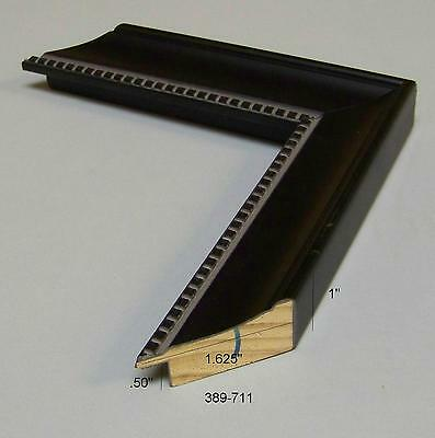 Black scoop w/ square bead accent NEW Modern PICTURE FRAME mouldings