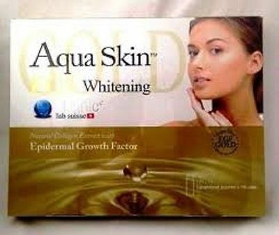 AQUA SKIN GOLD  COMPLETE IV SET 18 VIALS (Authentic - With serial number check)