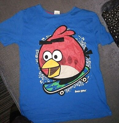 blue angry bird t shirt 12/13 years