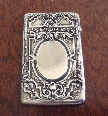 GORHAM Sterling Silver Pocket Match Safe Vesta ART DECO NO MONOGRAM