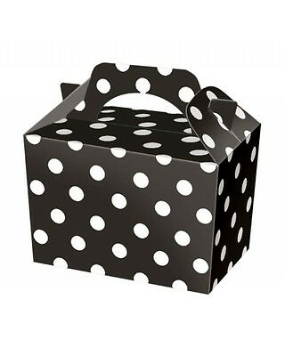 Wholesale Job Lot 150 Black Polka Dot Food Boxes *Party *Boys *Girls