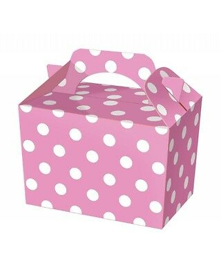 Wholesale Job Lot 150 Pink Polka Dot Food Boxes *Party *Boys *Girls