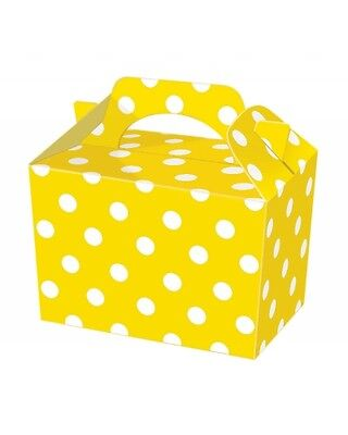 Wholesale Job Lot 150 Yellow Polka Dot Food Boxes *Party *Boys *Girls