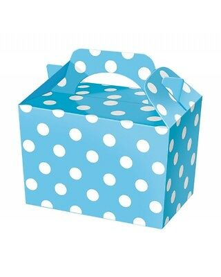 Wholesale Job Lot 150 Blue Polka Dot Food Boxes *Party *Boys *Girls