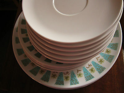Vintage Miramar  MELMAC plates shabby chic,cottage home 24pc-dinner,side,saucer