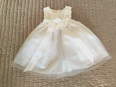 Girls White Morgan Christening/Bridesmaid Gown/Dress Age 18 Months