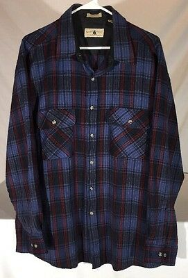 Vintage 90's Northwest Territory Plaid Flannel Long Sleeve Button Down Shirt XL