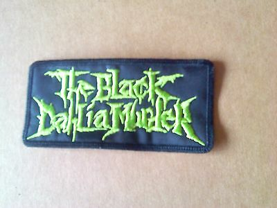 The Black Dahlia Murder,sew On Green Embroidered Patch