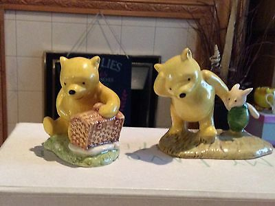 Winnie the Pooh Royal Doulton Figurines x 2. See details