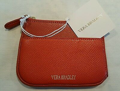 Vera Bradley Leather Zip Card Case Wallet Purse OR #15325-231 Free Fast Ship NWT