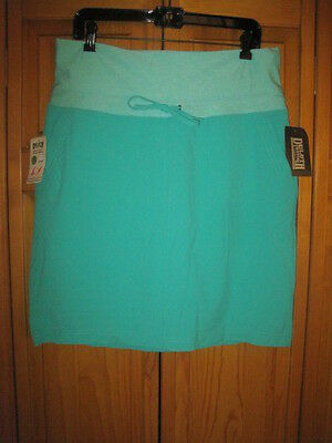 Duluth Trading Company Armachillo Cooling skort women's 12 green hiking NWT NEW