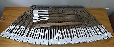 Fisher Antique Ivory Plated Piano Keys 1800's