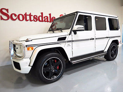 2013 Mercedes-Benz G-Class 15K MILES, WHITE on WHITE, FULL OPTIONS, AS NEW!! 13 MBZ G63 AMG designo w 15K MILES, WHITE on WHITE, BLACK PIANO WOOD, LOADED!!