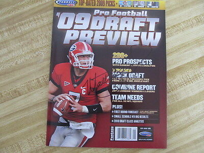 Matthew Stafford Signed Draft Preview Magazine ! Detroit Lions Star !