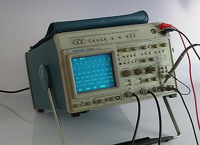 Tektronix 2465B classic 4 channel Oscilloscope rare Digital multimeter DMM