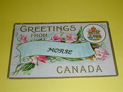 Greeting's From Morse Canada, 1911 Postcard