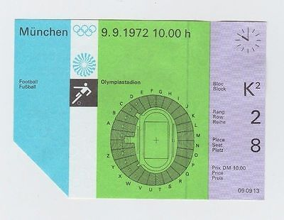 Orig.Ticket    Olympic Games München 1972 - FOOTBALL   GDR - USSR  3.Place match
