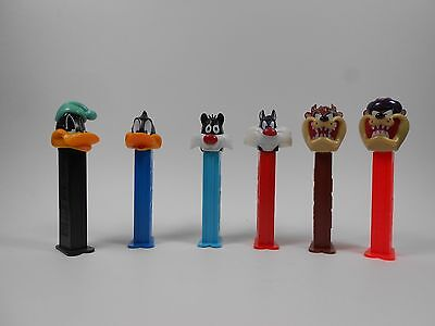 Looney Tunes Pez Dispensers Lot of 6 Daffy Duck, Sylvester the Cat, Taz